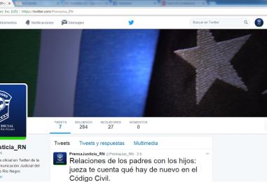 Cuenta de Twitter del área de Comunicación Judicial