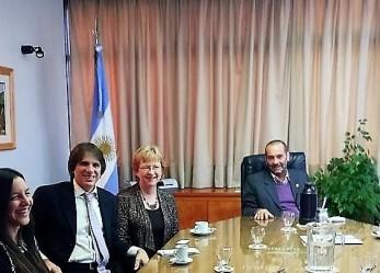 Los ministros Panizzi y Donet recibieron a especialistas en Juicio por Jurados