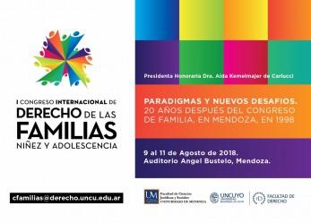 PRIMER CONGRESO INTERNACIONAL DE DERECHO DE LAS FAMILIAS, NIÑEZ Y ADOLESCENCIA PARADIGMAS Y NUEVOS DESAFIOS. (20 AÑOS DESPUÉS DEL CONGRESO DE FAMILIA, MENDOZA 1998).