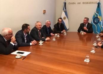 EL GOBERNADOR RECIBIÓ A LOS MINISTROS DEL SUPERIOR TRIBUNAL DE JUSTICIA