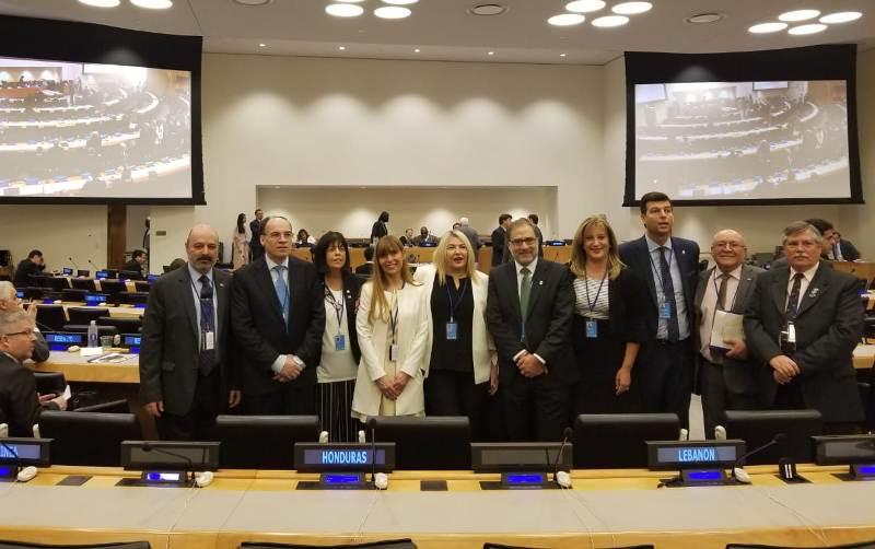 Muchnik en el Cómite de Descolonización de la ONU