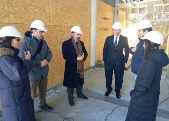 Muchnik, Battaini y Sagastume constataron el avance de obra del edificio del STJ