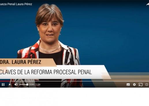 Video: la jueza Laura Pérez explica las funciones de fiscales y jueces en el nuevo paradigma penal