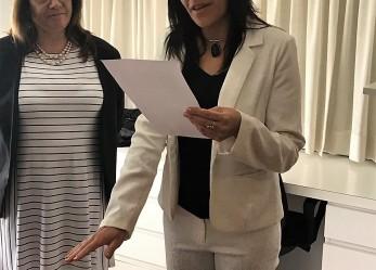 Juró Tamara Gómez como Jueza Suplente en el Juzgado de Paz de Rawson