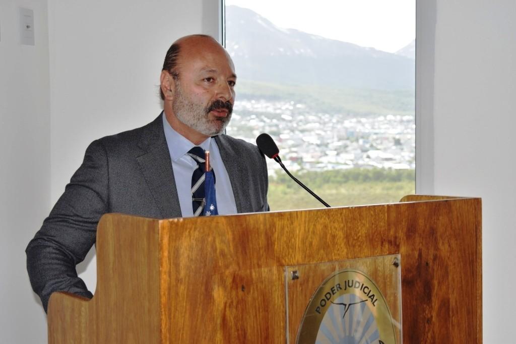 Inauguración de la sede de la Asociación de Magistrados y Funcionarios de la provincia 8