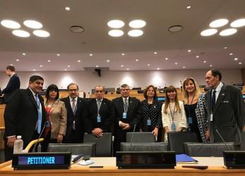 Battaini participó del Comité de Descolonización de las Naciones Unidas